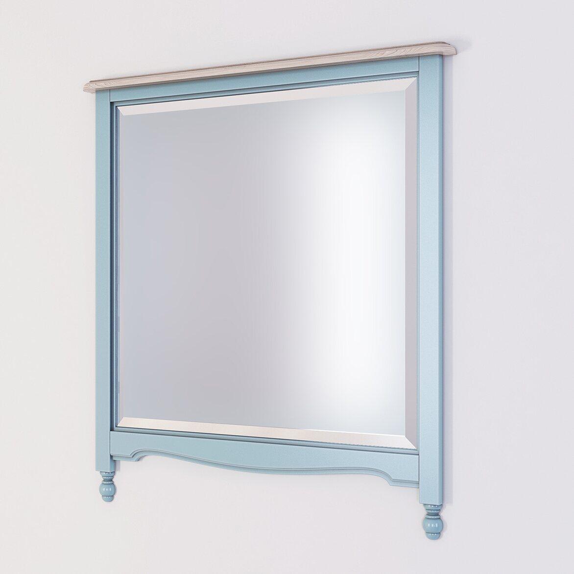 Зеркало прямоугольное Leblanc, голубое | Настенные зеркала Kingsby