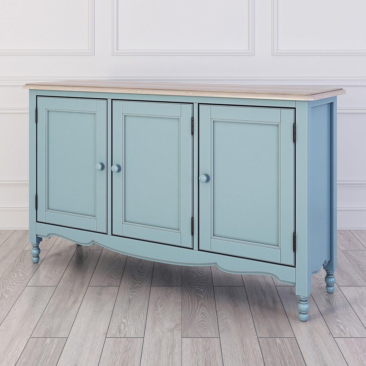 Буфет c 3-я дверцами Leblanc, голубой | Буфеты Kingsby