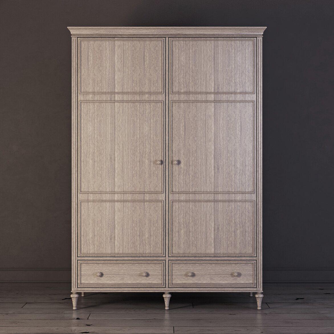 Шкаф двухстворчатый Riverdi, светлый дуб | Платяные шкафы Kingsby