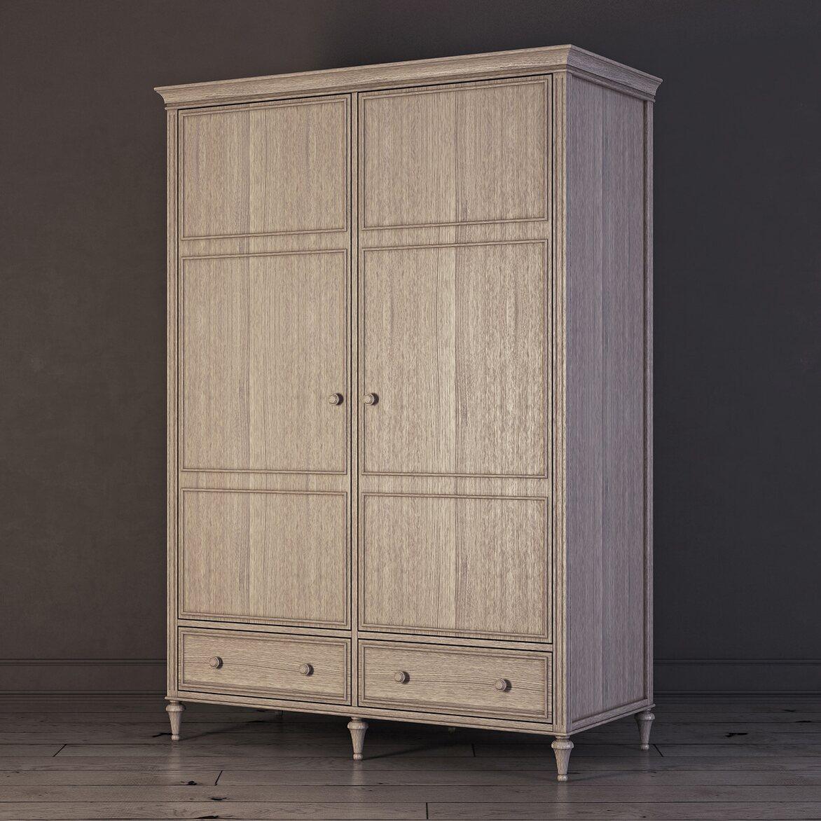 Шкаф двухстворчатый Riverdi, светлый дуб 2 | Платяные шкафы Kingsby