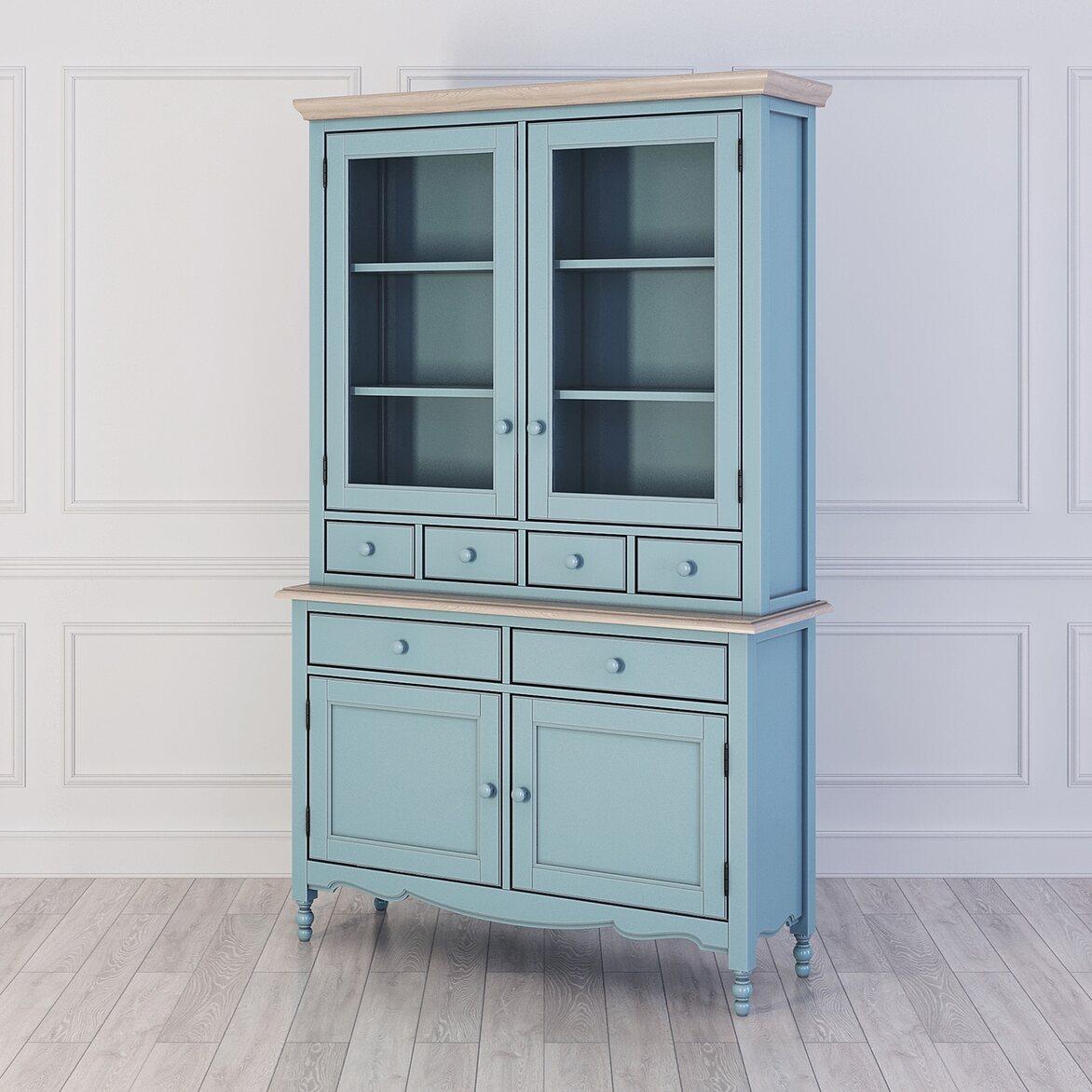 Буфет с ящиками и дверцами Leblanc, голубой | Буфеты Kingsby