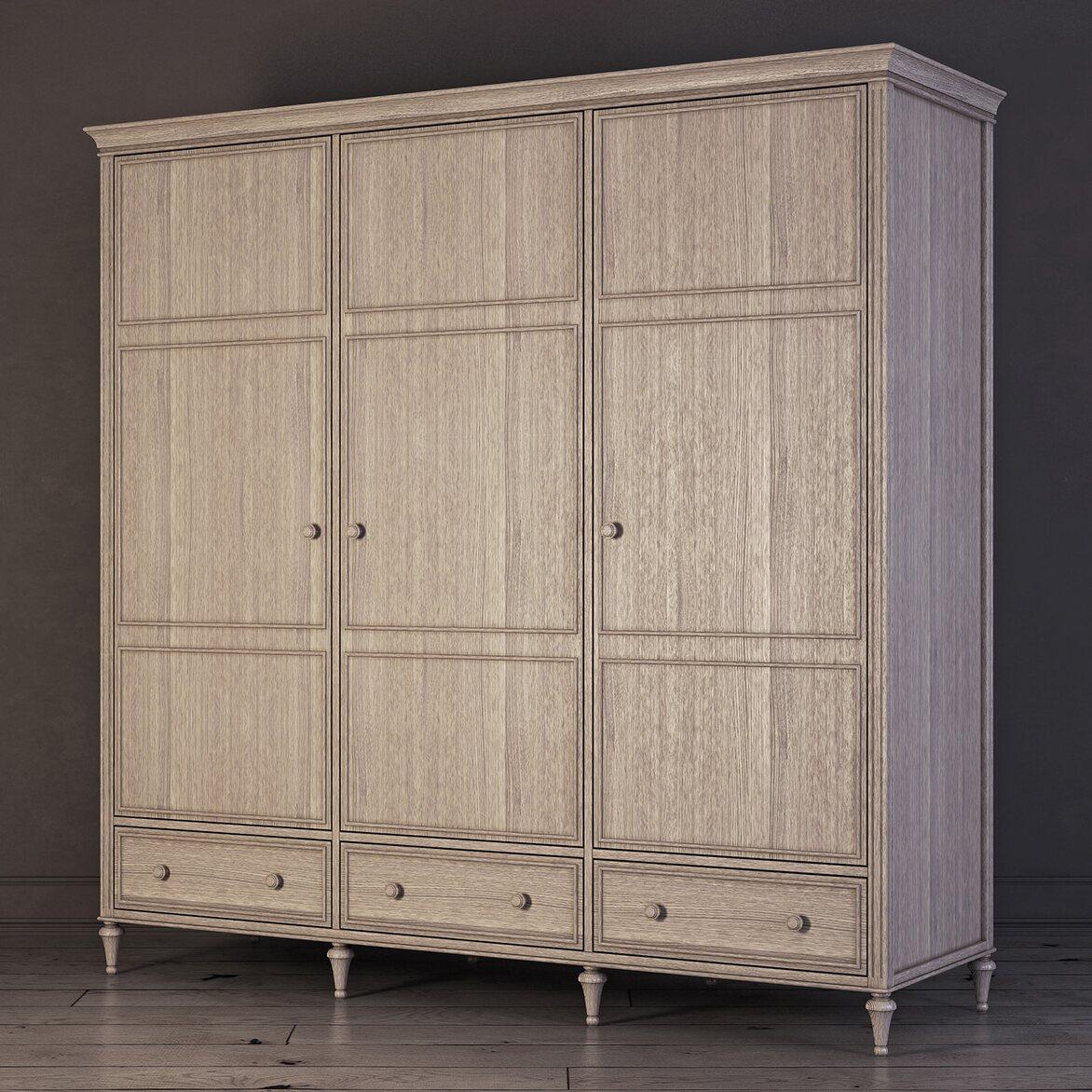 Шкаф трехстворчатый Riverdi, светлый дуб 2 | Платяные шкафы Kingsby