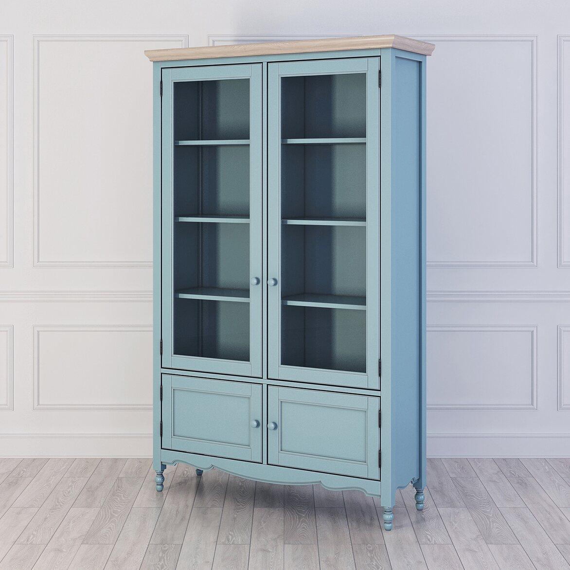 Библиотека Leblanc, голубая | Книжные шкафы Kingsby