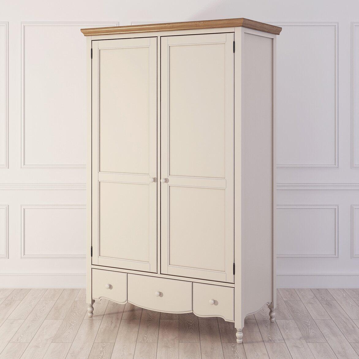 Шкаф двухстворчатый Leblanc, бежевый   Платяные шкафы Kingsby