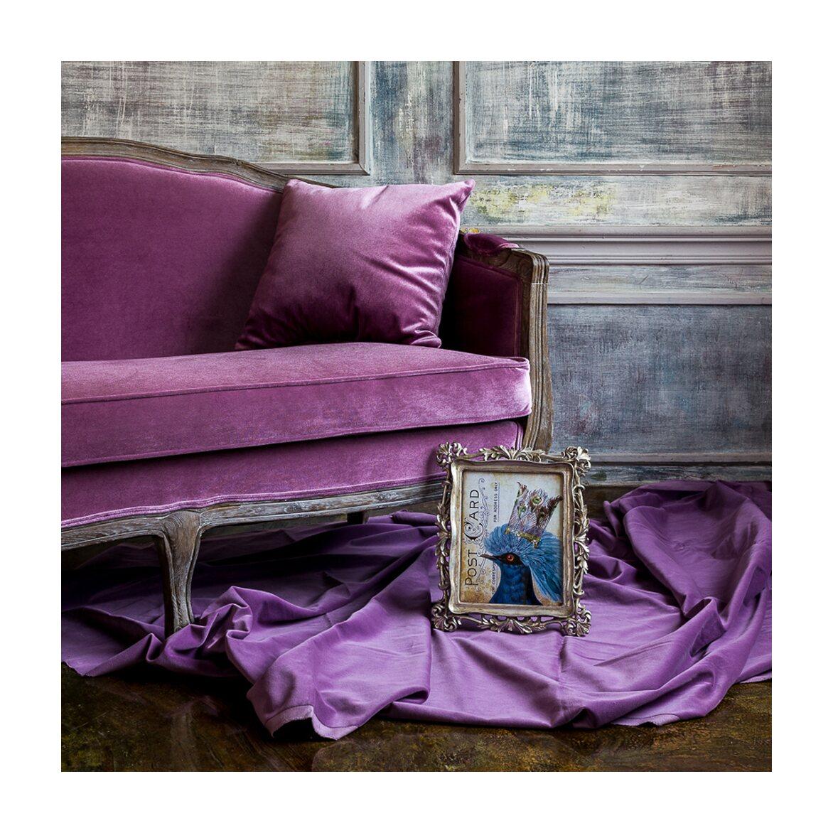 Софа «Прованс» двухместная (дуб,велюр/фиалковый антик) 5 | Прямые диваны Kingsby