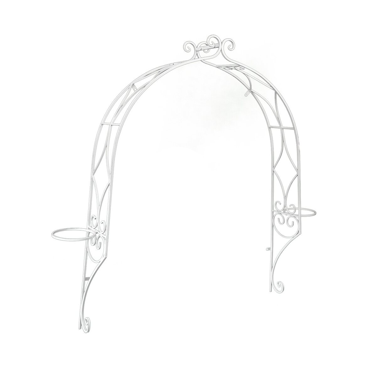 Цветочная маркиза «Флоранс» (белый антик)   Декор Kingsby
