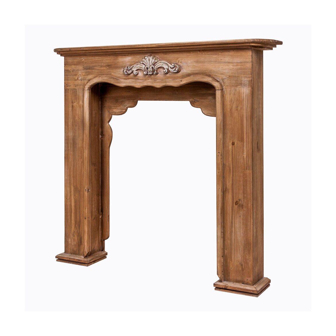 Каминный портал «Монсо» (шоколадный антик) 2 | Декор Kingsby