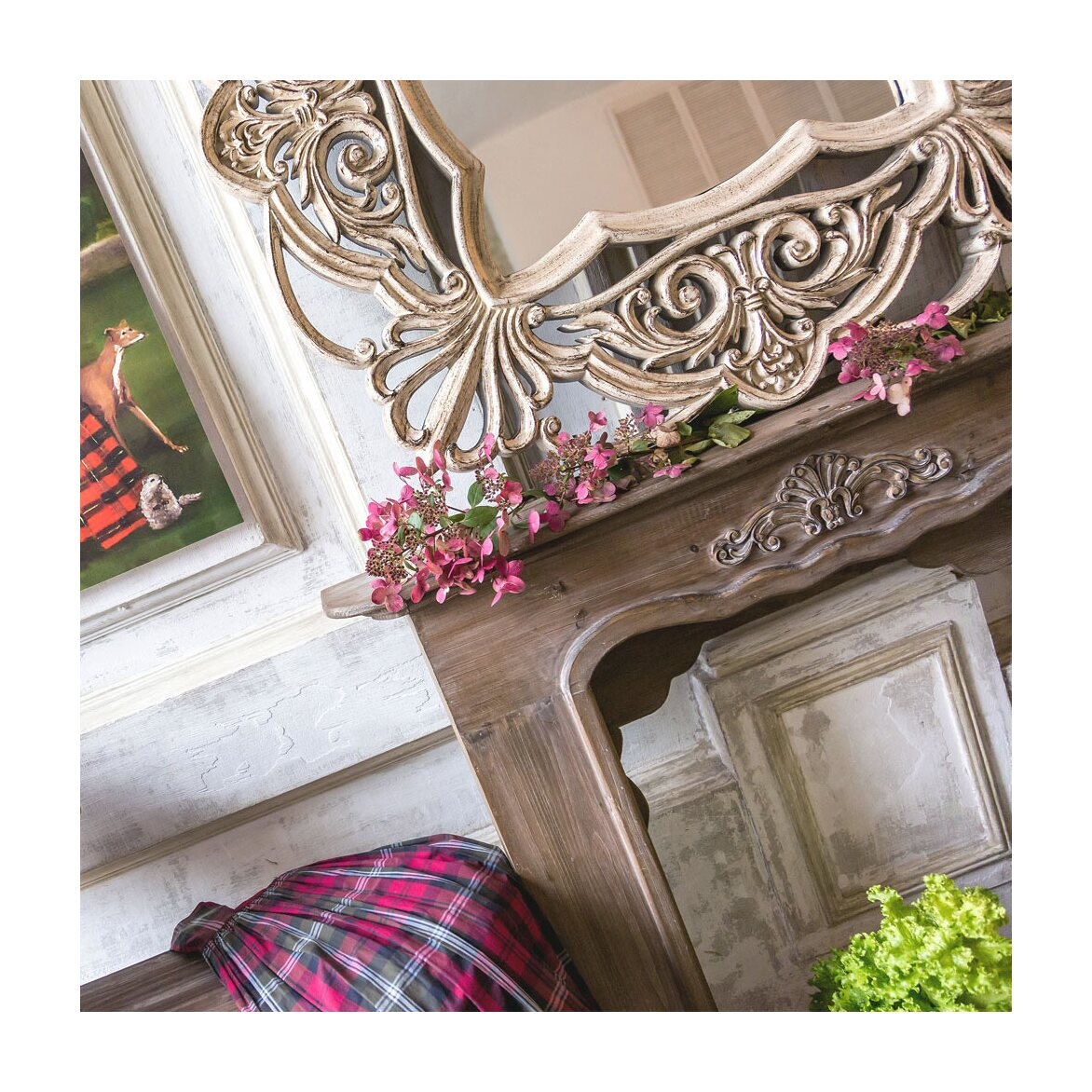 Каминный портал «Монсо» (шоколадный антик) 6 | Декор Kingsby