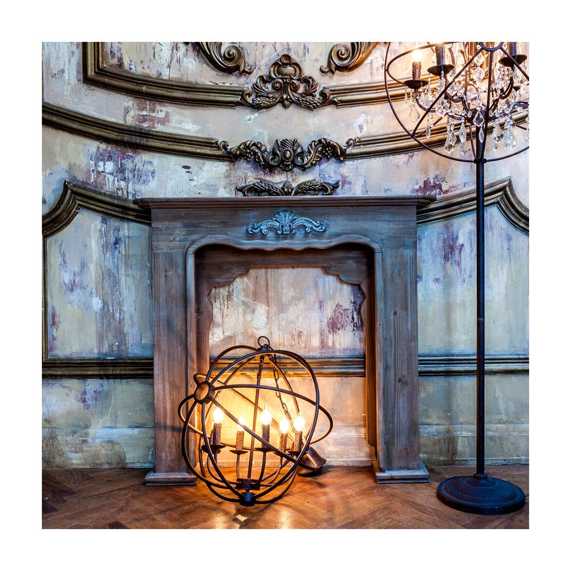 Каминный портал «Монсо» (шоколадный антик) 8 | Декор Kingsby