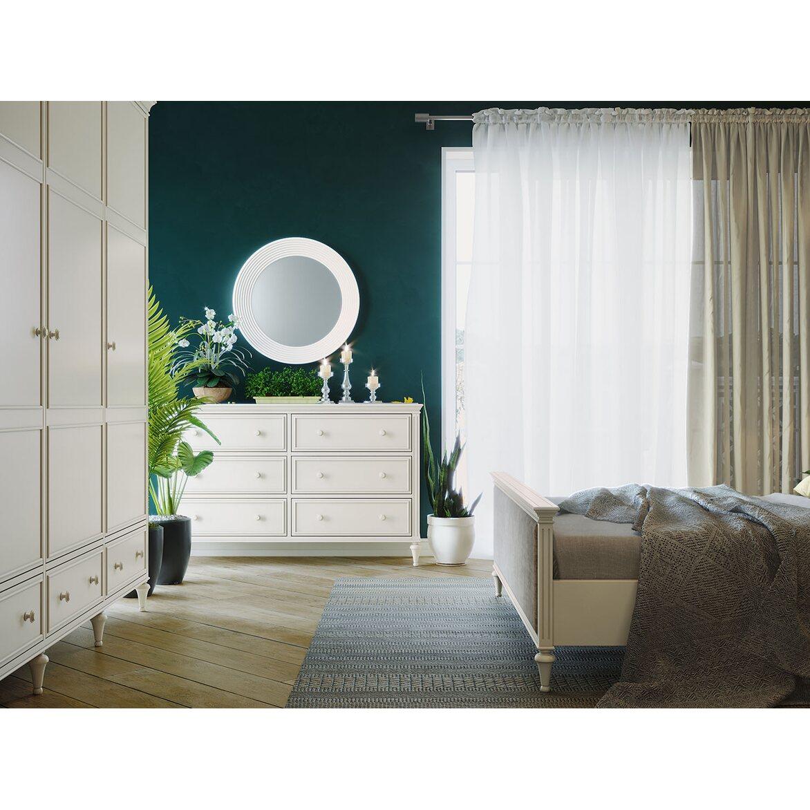 Кровать Riverdi, двуспальная, слоновая кость 4 | Двуспальные кровати Kingsby