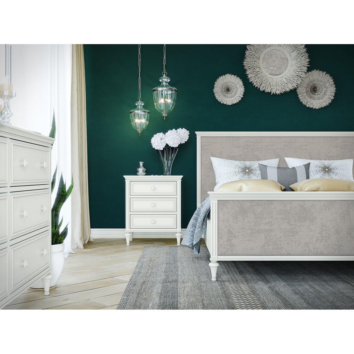 Кровать Riverdi с мягким изголовьем, с изножьем 5 | Двуспальные кровати Kingsby