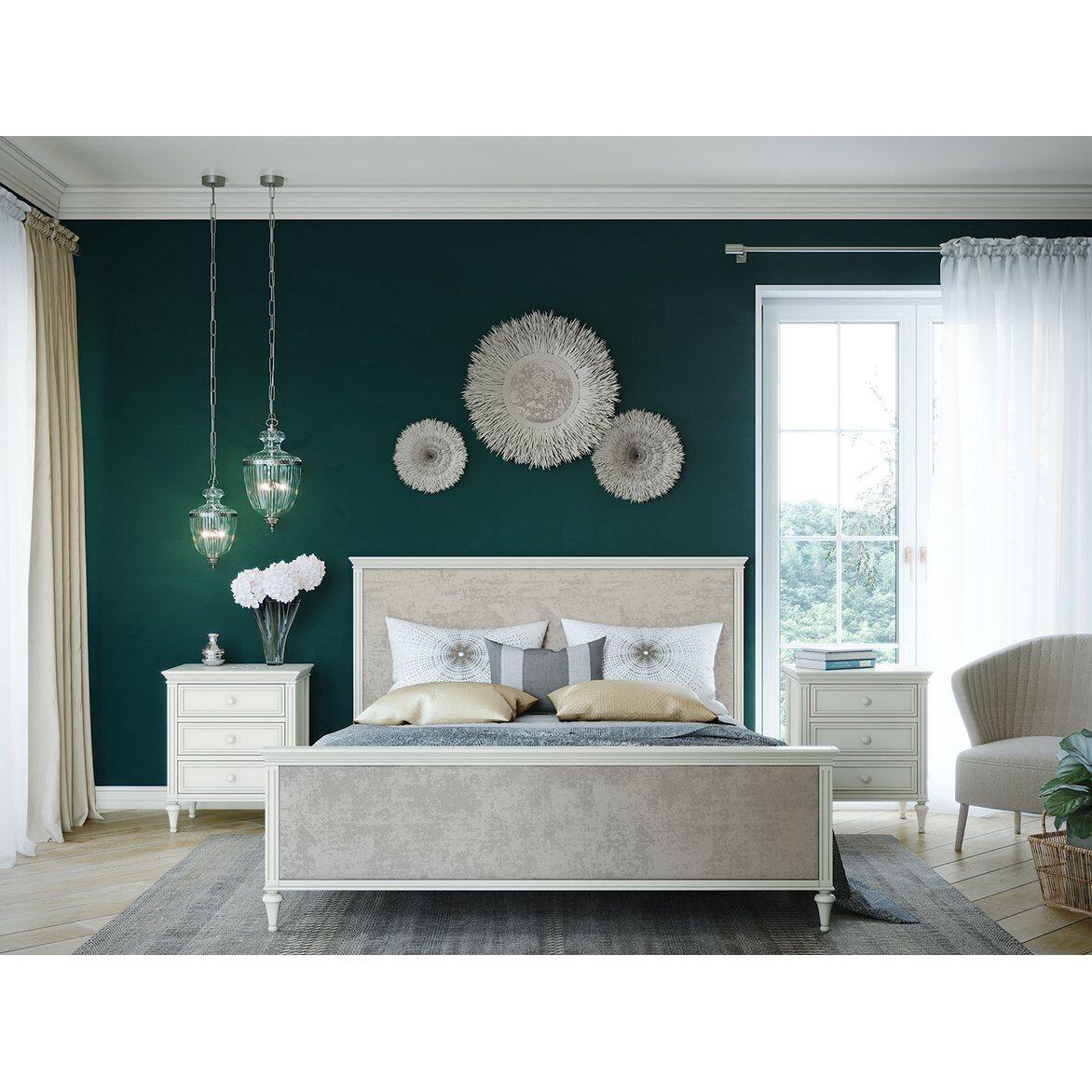 Кровать Riverdi, двуспальная, слоновая кость 3 | Двуспальные кровати Kingsby