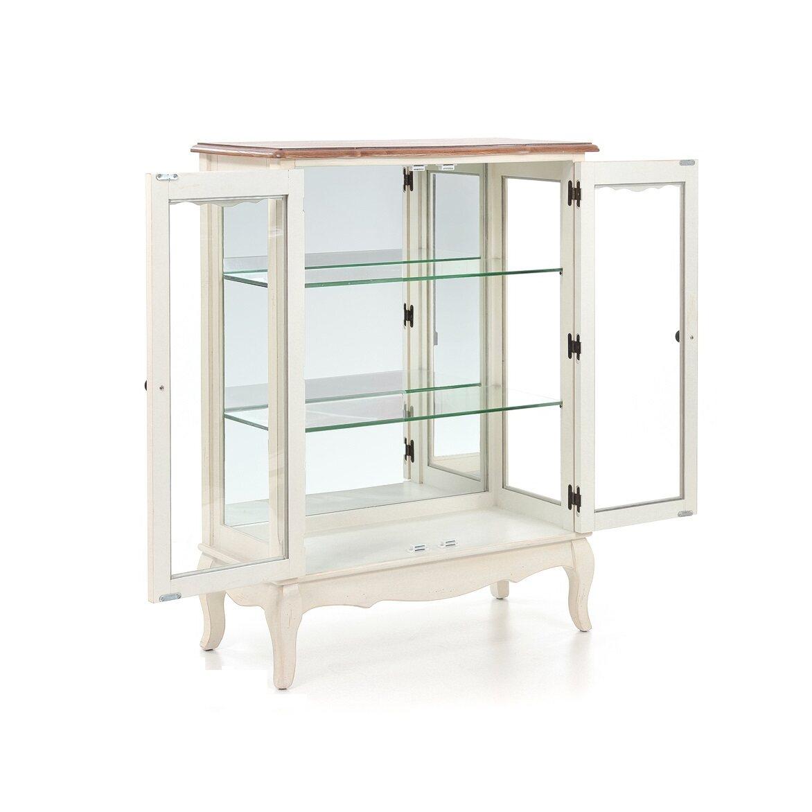 Стеклянная витрина (двойная) Leontina, бежевого цвета 7 | Витрины Kingsby