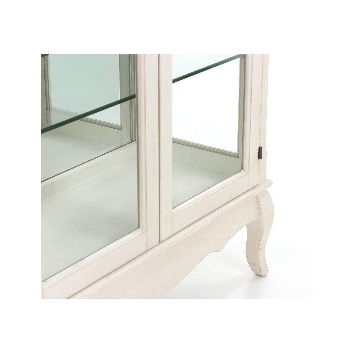 Стеклянная витрина (двойная) Leontina, бежевого цвета 6 | Витрины Kingsby