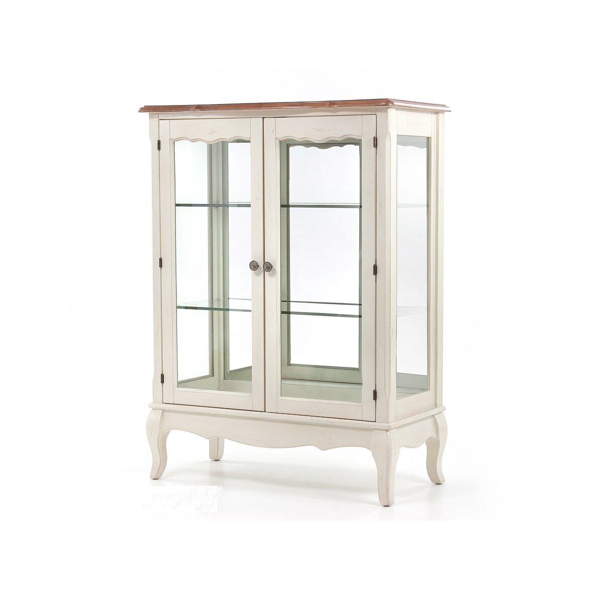 Стеклянная витрина (двойная) Leontina, бежевого цвета 4 | Витрины Kingsby