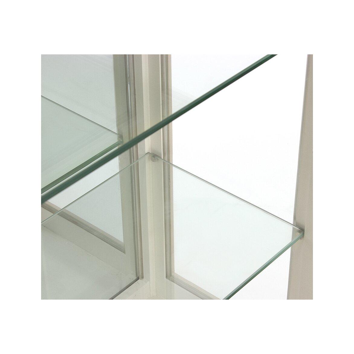 Стеклянная витрина (двойная) Leontina, бежевого цвета 5 | Витрины Kingsby