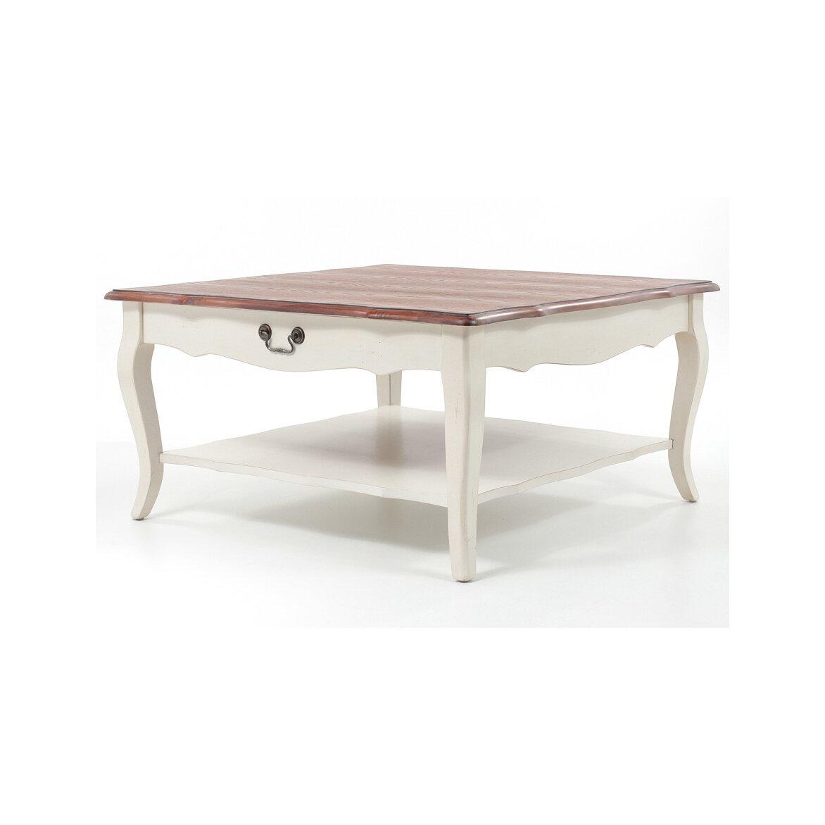 Низкий чайный столик (квадратный) Leontina, бежевого цвета 3 | Журнальные столики Kingsby