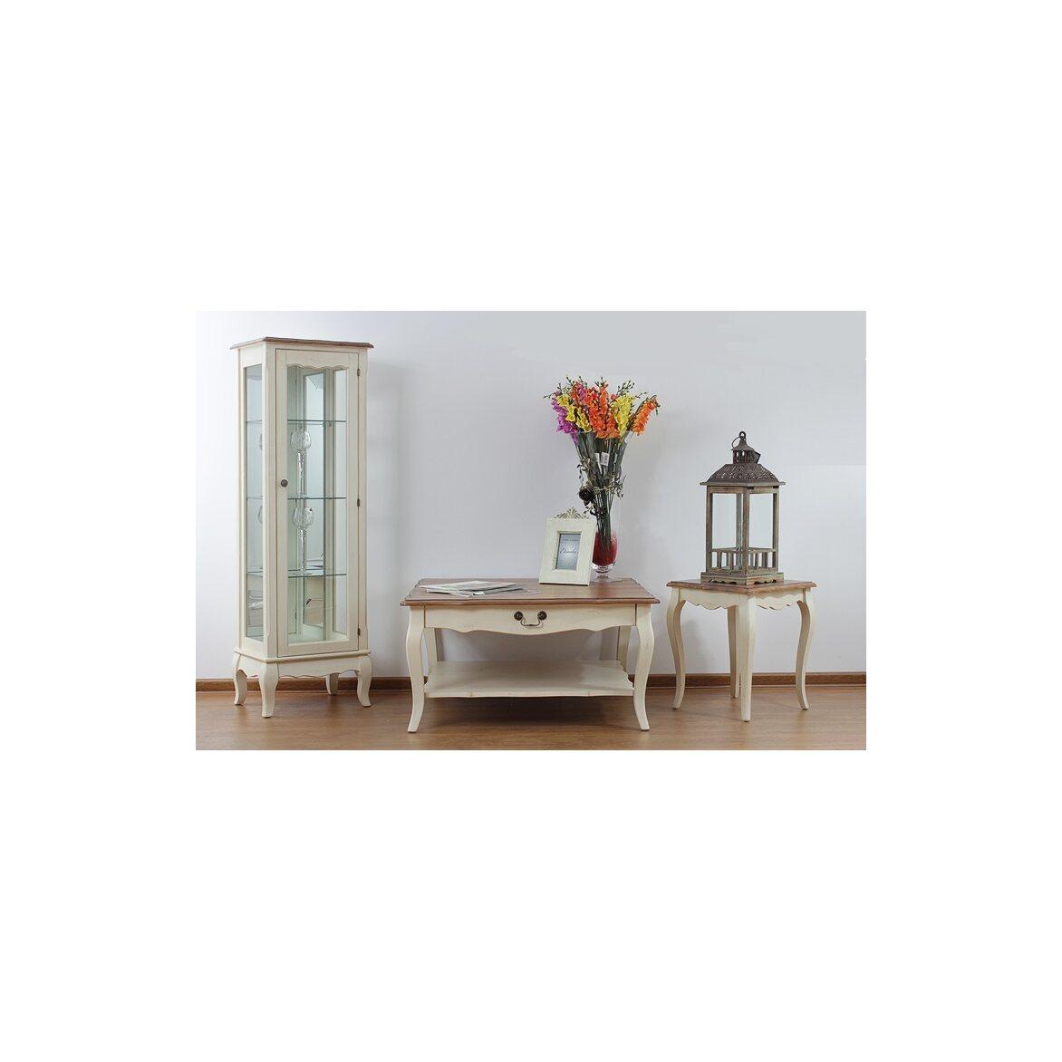 Низкий чайный столик (квадратный) Leontina, бежевого цвета 4 | Журнальные столики Kingsby