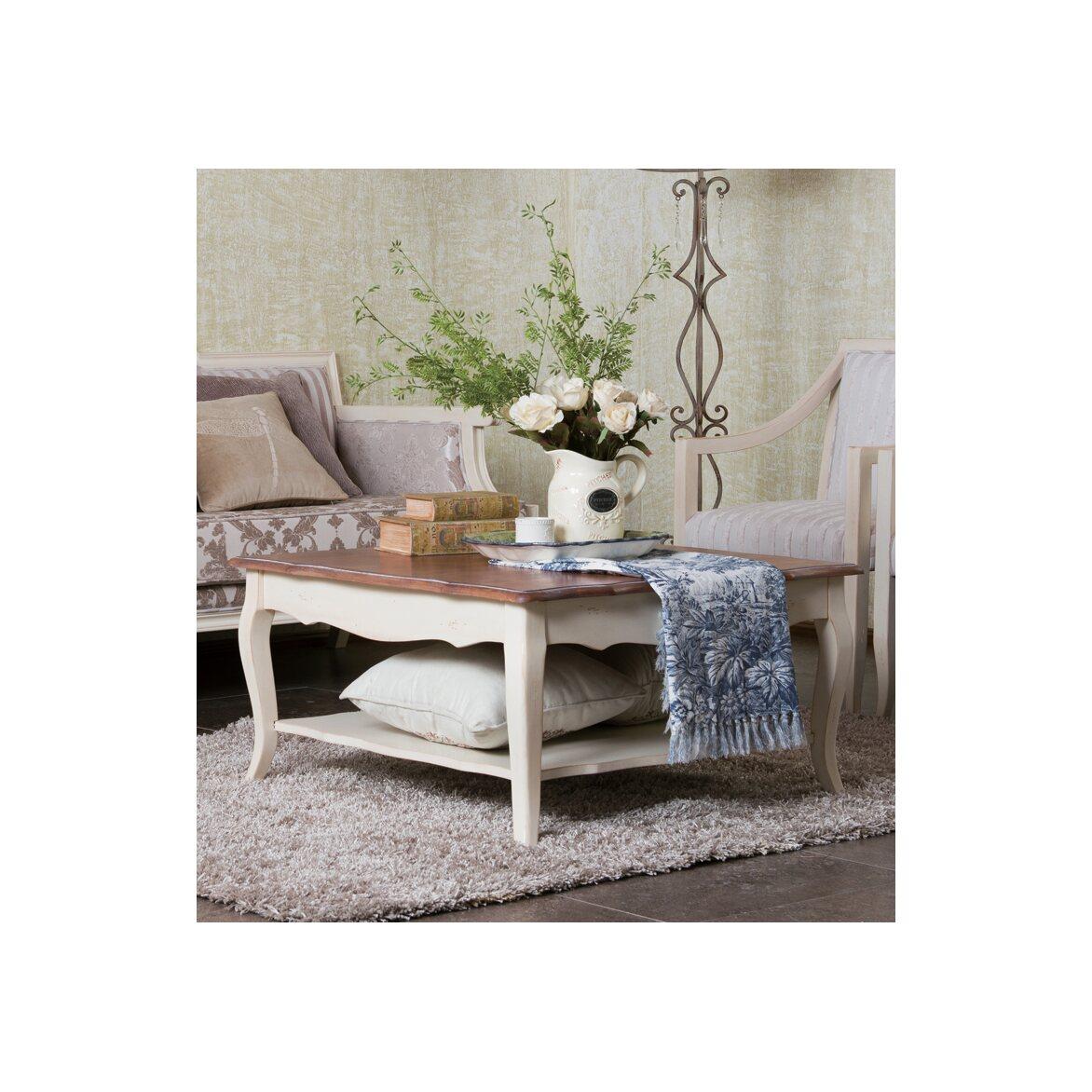 Низкий чайный столик (квадратный) Leontina, бежевого цвета 5 | Журнальные столики Kingsby