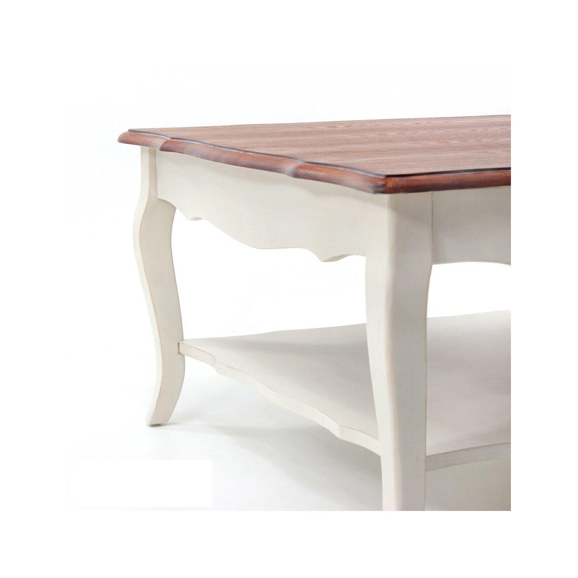Низкий чайный столик (квадратный) Leontina, бежевого цвета 2 | Журнальные столики Kingsby