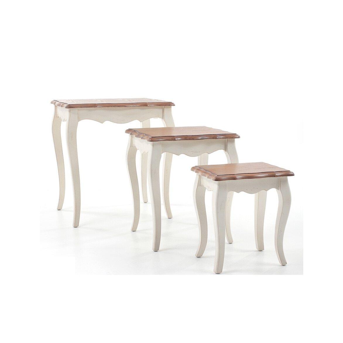 Консольные столики (комплект) Leontina, бежевого цвета 2 | Консоли Kingsby