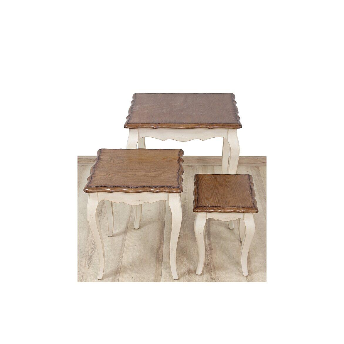 Консольные столики (комплект) Leontina, бежевого цвета 3 | Консоли Kingsby