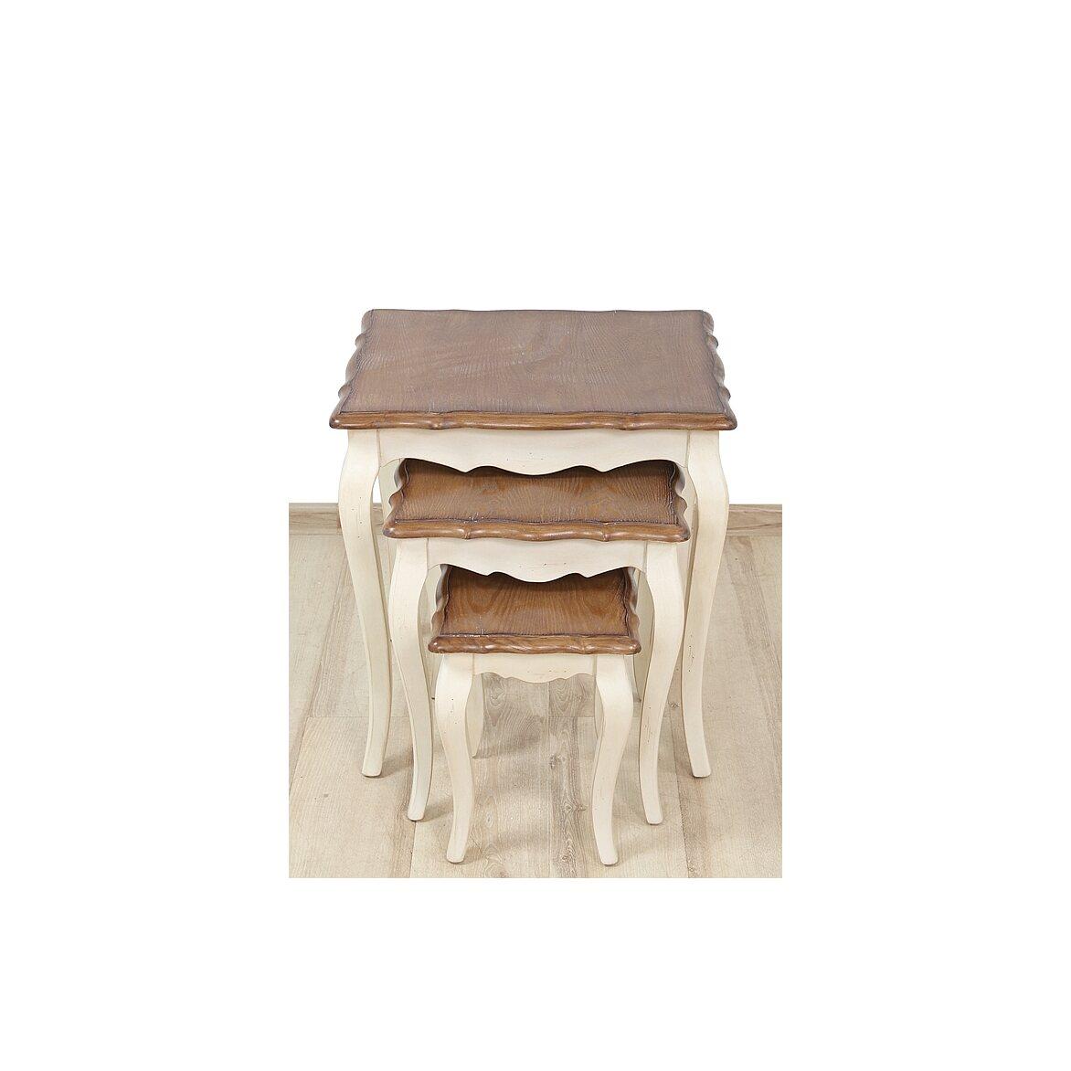 Консольные столики (комплект) Leontina, бежевого цвета 4 | Консоли Kingsby