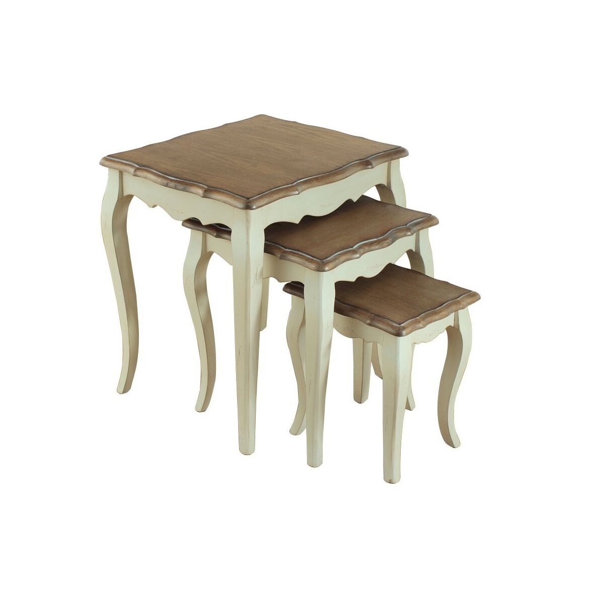 Консольные столики (комплект) Leontina, бежевого цвета | Консоли Kingsby