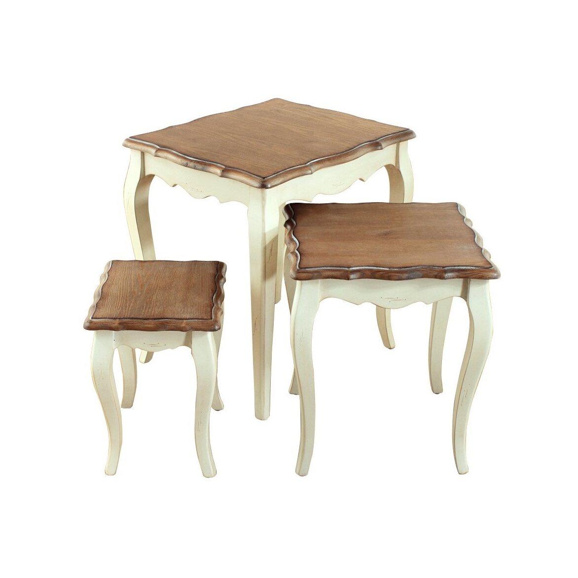 Консольные столики (комплект) Leontina, бежевого цвета 5 | Консоли Kingsby