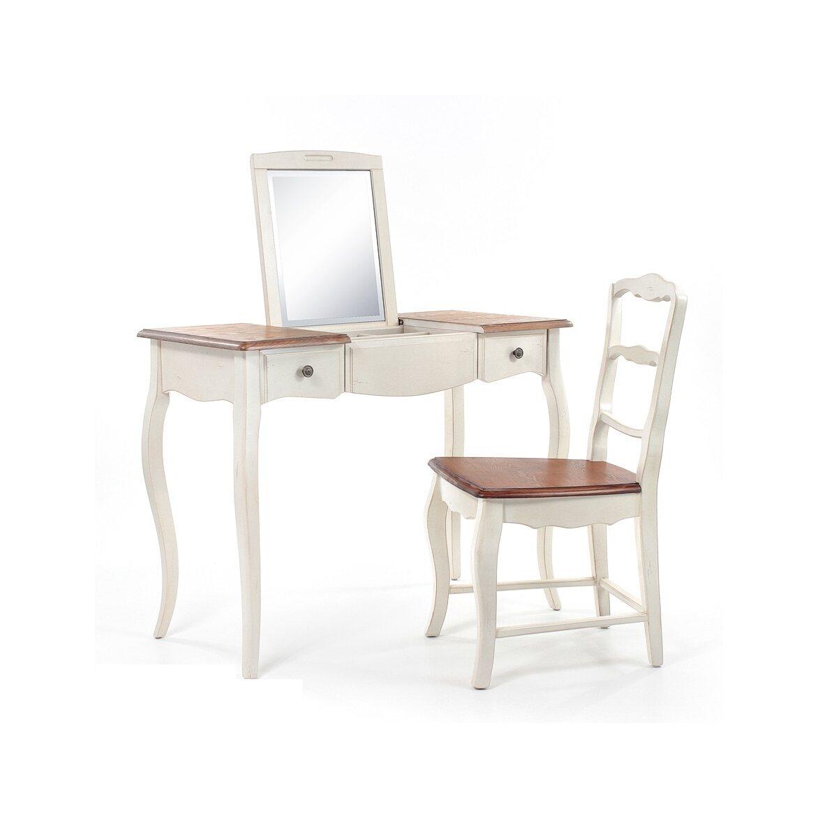 Туалетный столик с зеркалом Leontina, бежевого цвета 5   Туалетные столики Kingsby