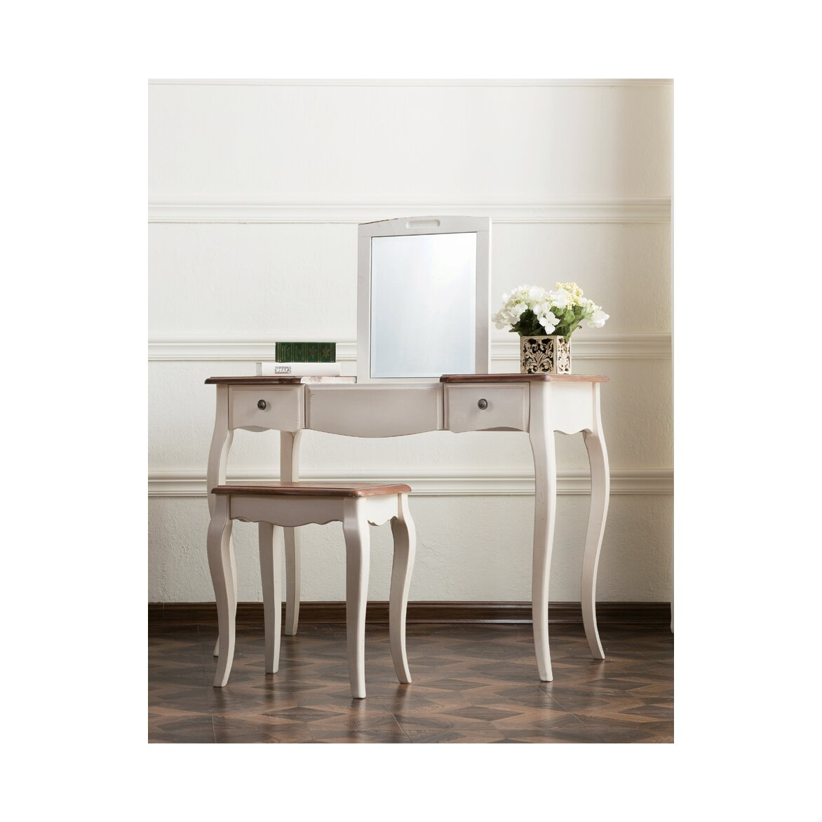 Туалетный столик с зеркалом Leontina, бежевого цвета 10   Туалетные столики Kingsby