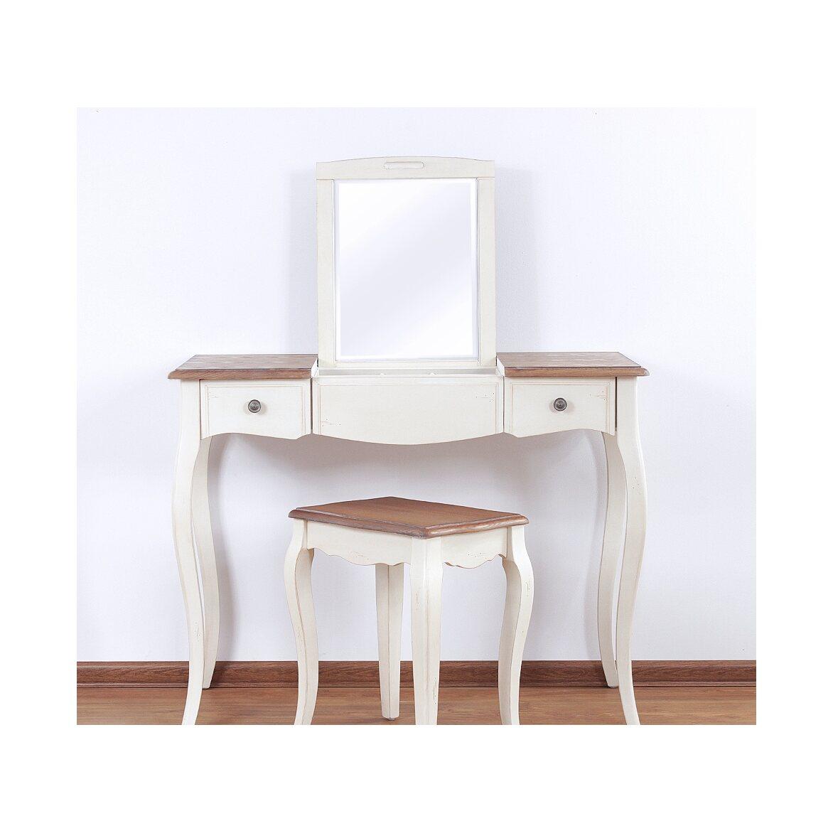 Туалетный столик с зеркалом Leontina, бежевого цвета 8   Туалетные столики Kingsby