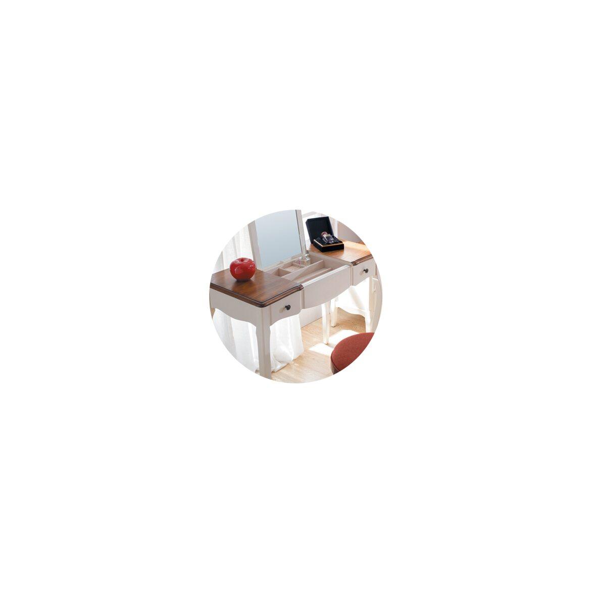 Туалетный столик с зеркалом Leontina, бежевого цвета 9   Туалетные столики Kingsby