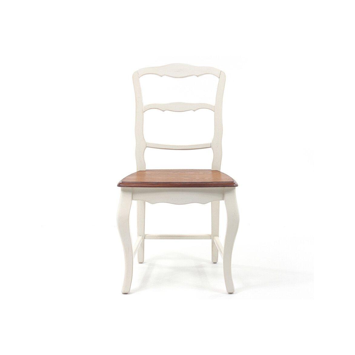 Стул с деревянным сиденьем Leontina, бежевого цвета   Обеденные стулья Kingsby