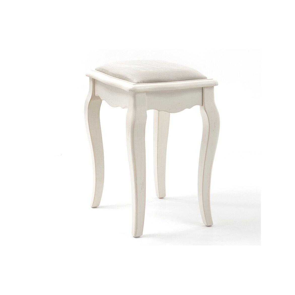 Табурет с мягким сиденьем к макияжному столику Leontina, бежевого цвета 2 | Стулья Kingsby