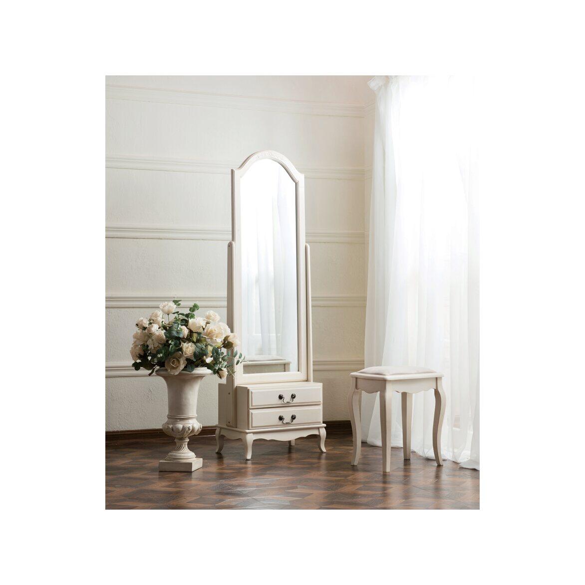 Табурет с мягким сиденьем к макияжному столику Leontina, бежевого цвета 3 | Стулья Kingsby