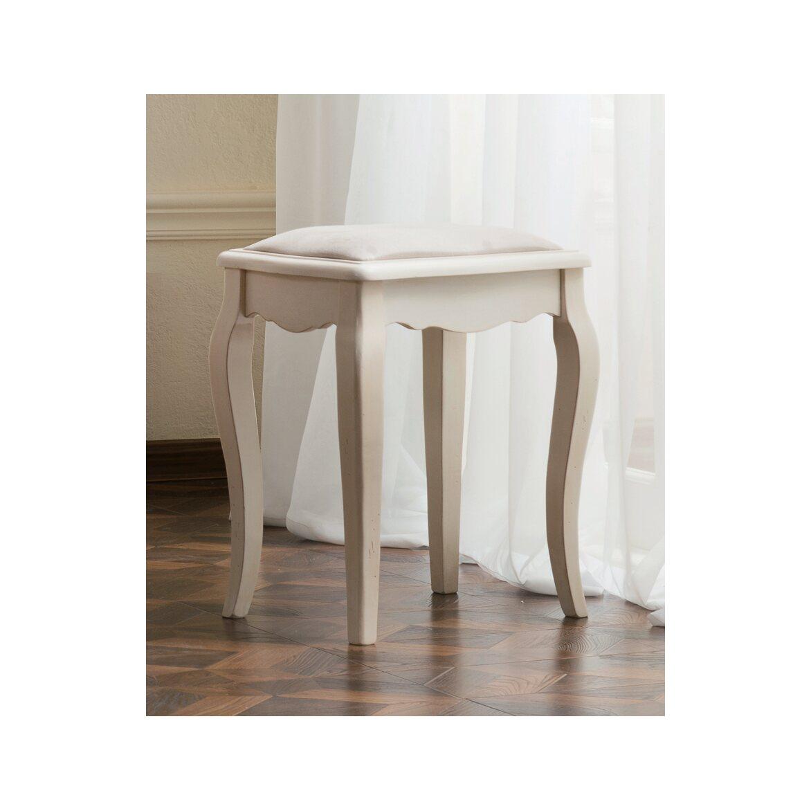 Табурет с мягким сиденьем к макияжному столику Leontina, бежевого цвета 4 | Стулья Kingsby