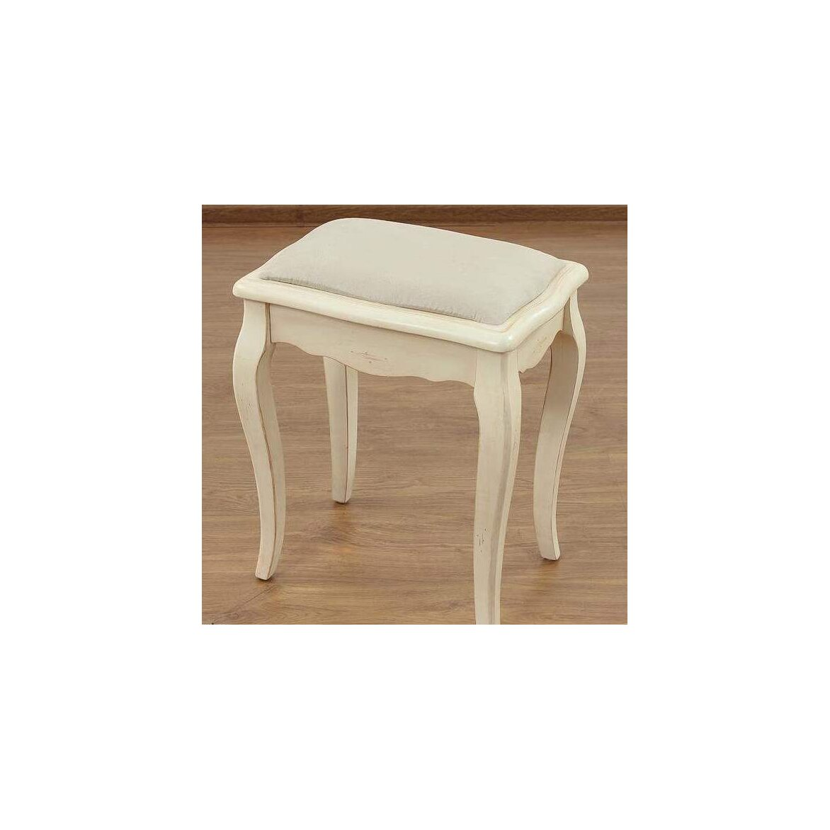 Табурет с мягким сиденьем к макияжному столику Leontina, бежевого цвета 5 | Стулья Kingsby