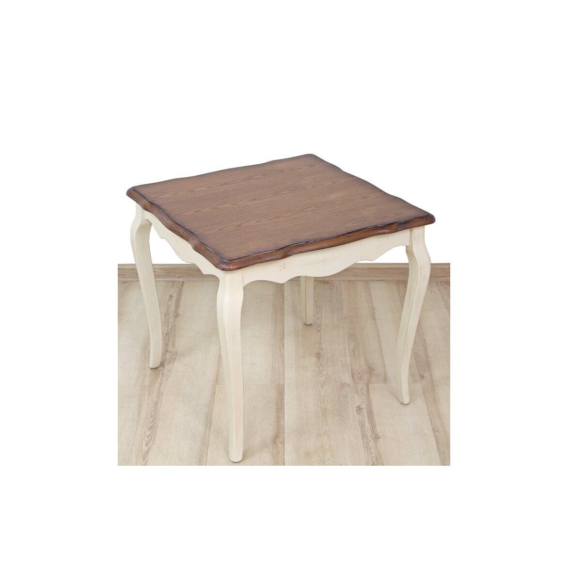 Чайный столик (квадратный) Leontina, бежевого цвета 4 | Журнальные столики Kingsby