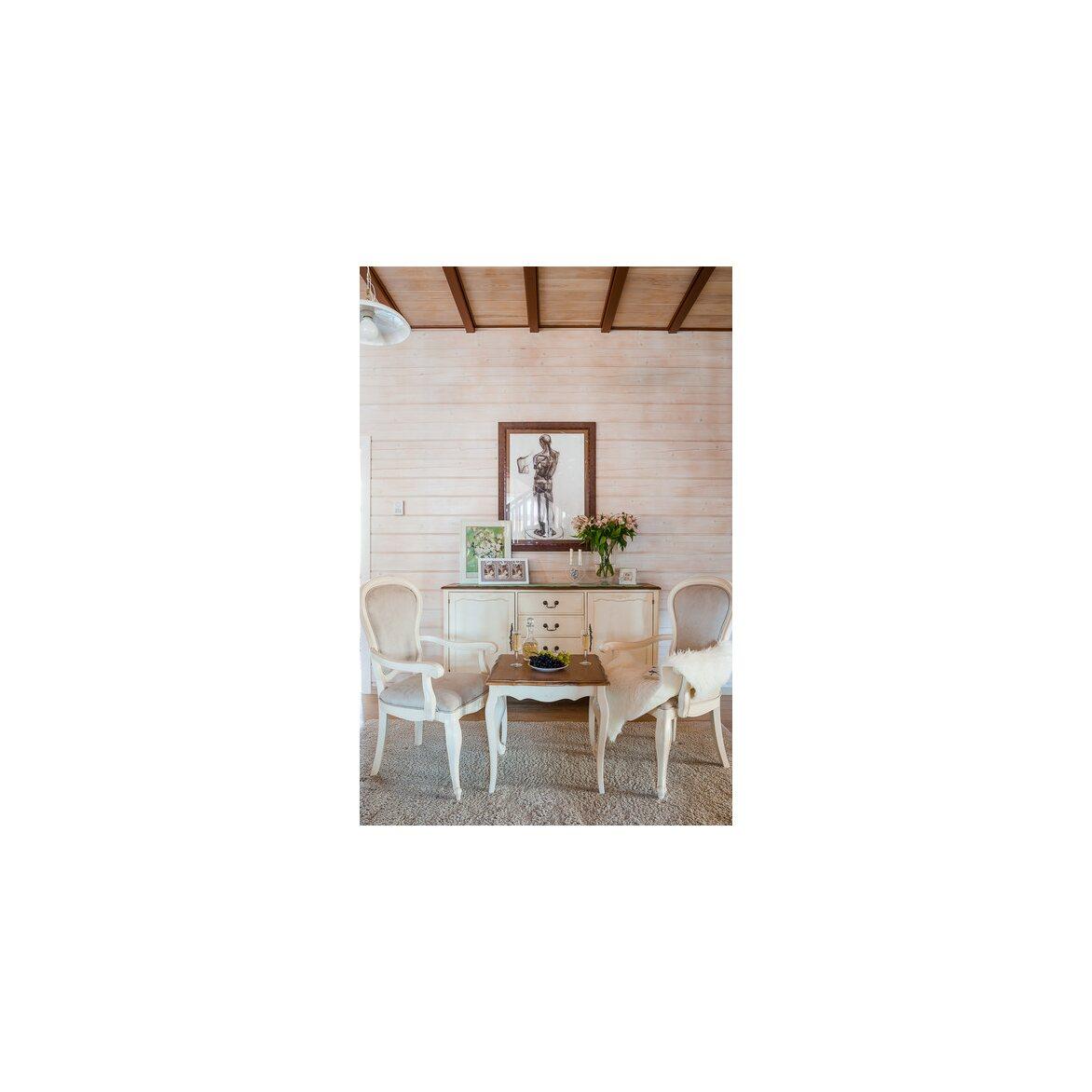Чайный столик (квадратный) Leontina, бежевого цвета 2 | Журнальные столики Kingsby