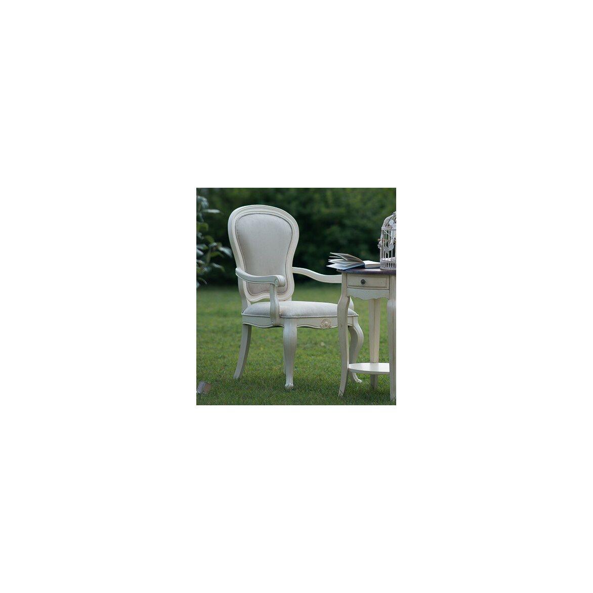 Полукресло с твердыми подлокотниками Leontina, бежевого цвета 5   Кресло-стул Kingsby