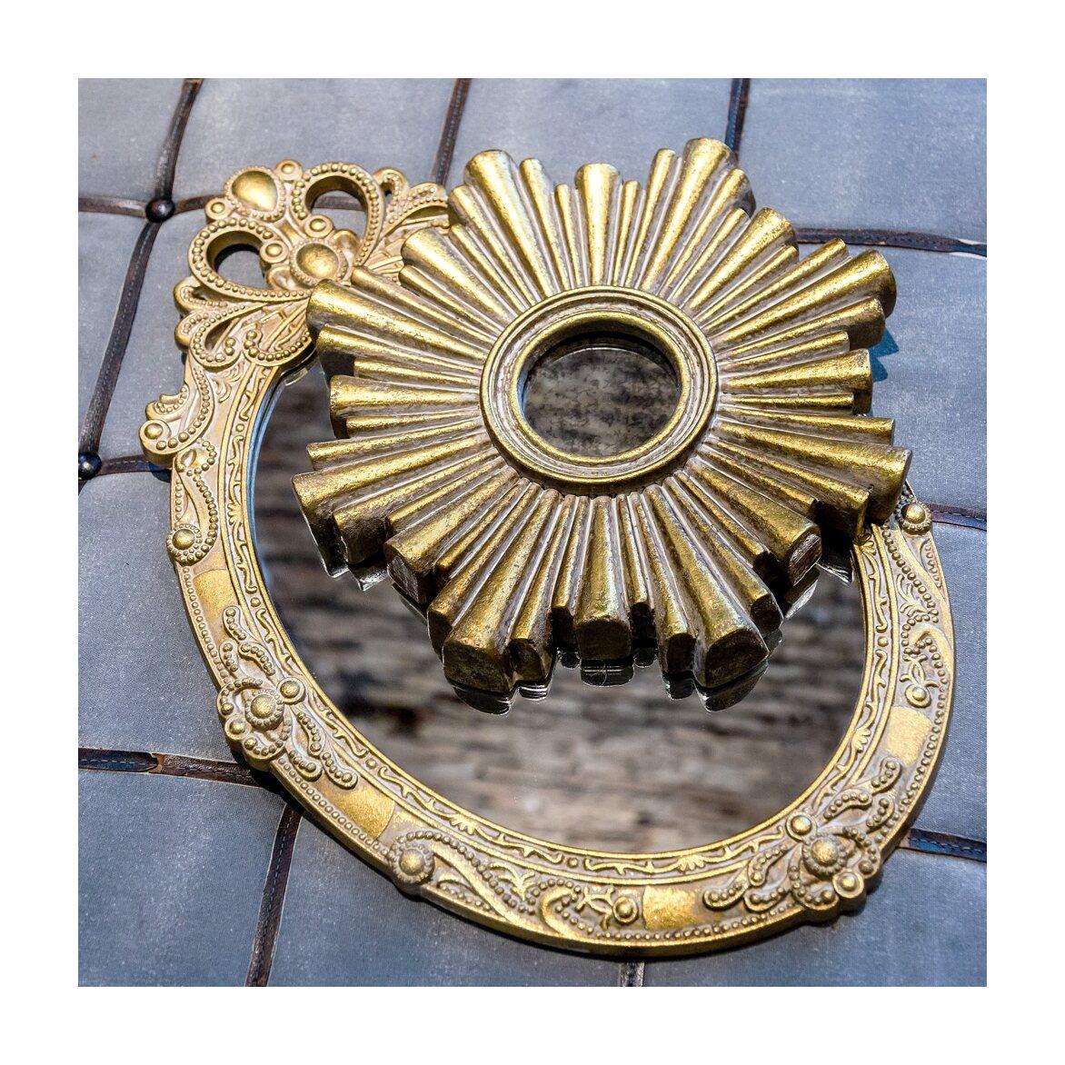 Декоративное зеркальное украшение настенное «Олимп» 3   Настенные зеркала Kingsby