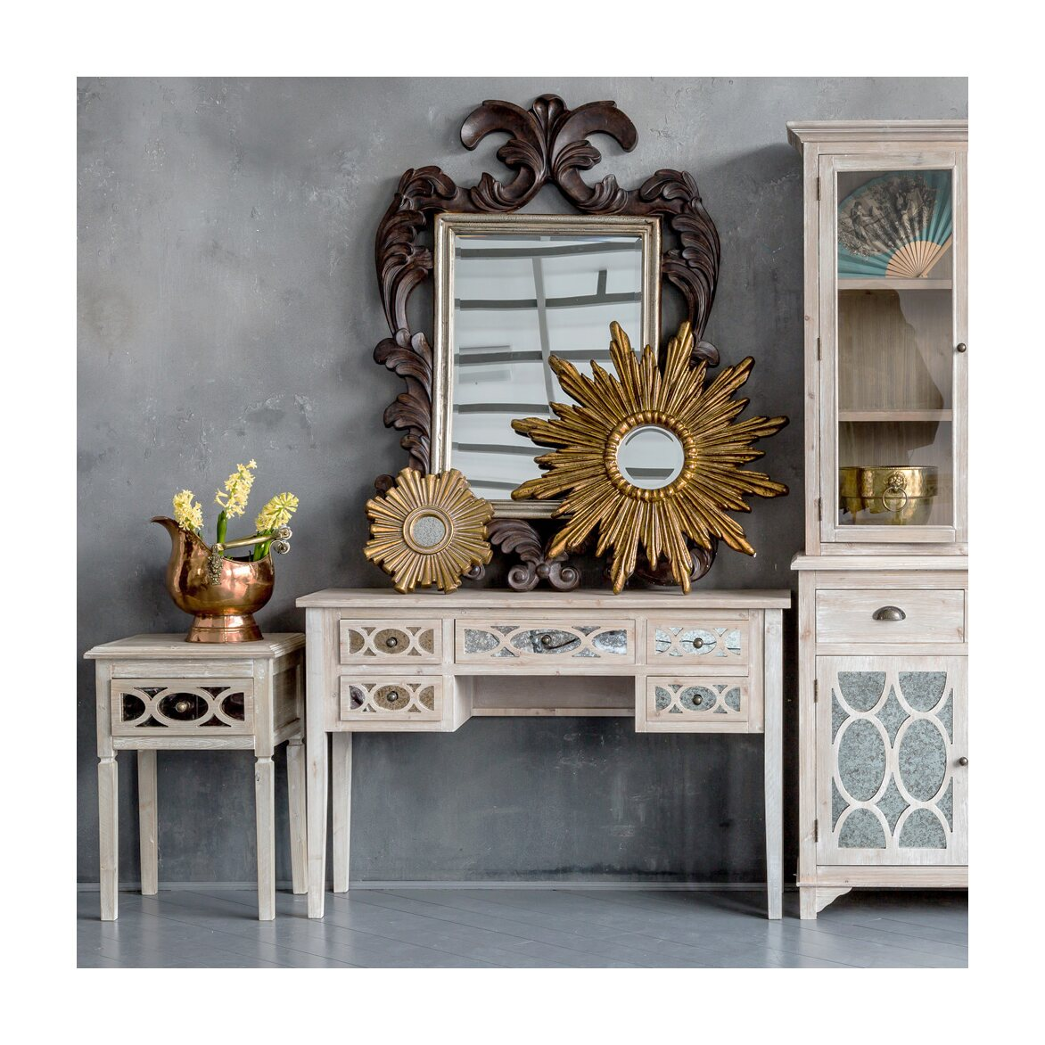 Декоративное зеркальное украшение настенное «Олимп» 7   Настенные зеркала Kingsby