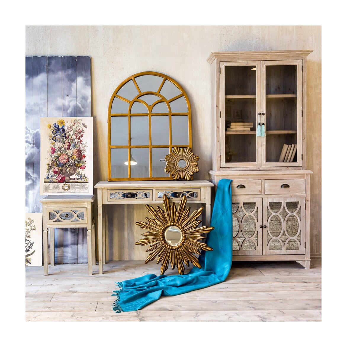 Декоративное зеркальное украшение настенное «Олимп» 8   Настенные зеркала Kingsby