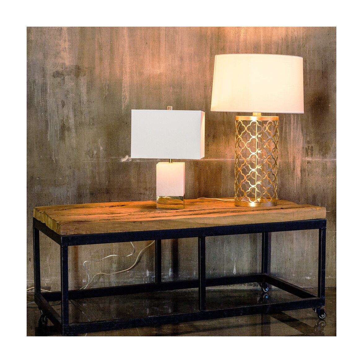 Настольная лампа «Каррара» 2   Настольные лампы Kingsby
