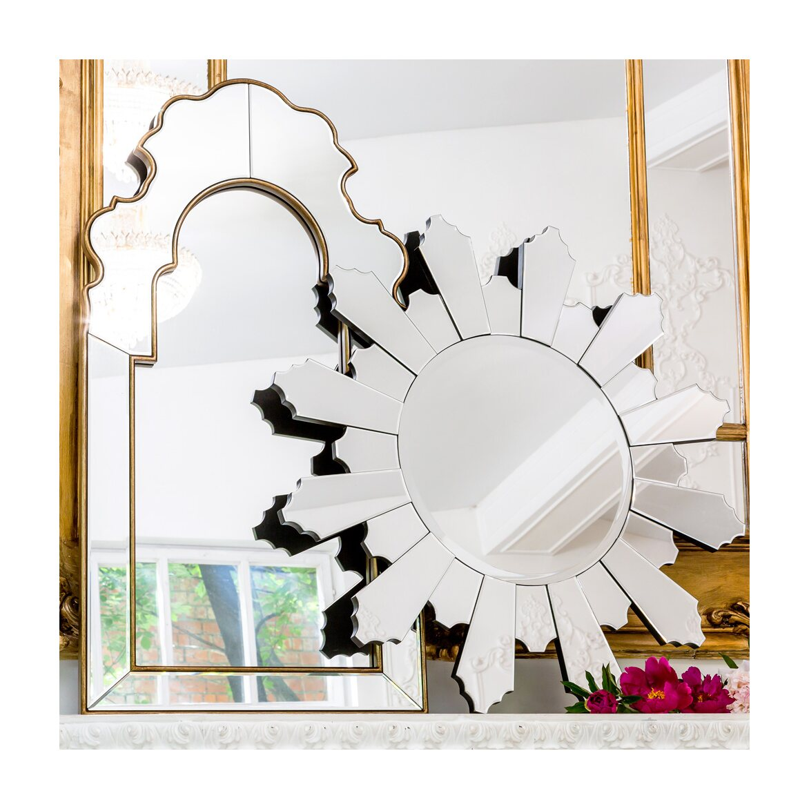 Настенное зеркало «Людовик» 4   Настенные зеркала Kingsby
