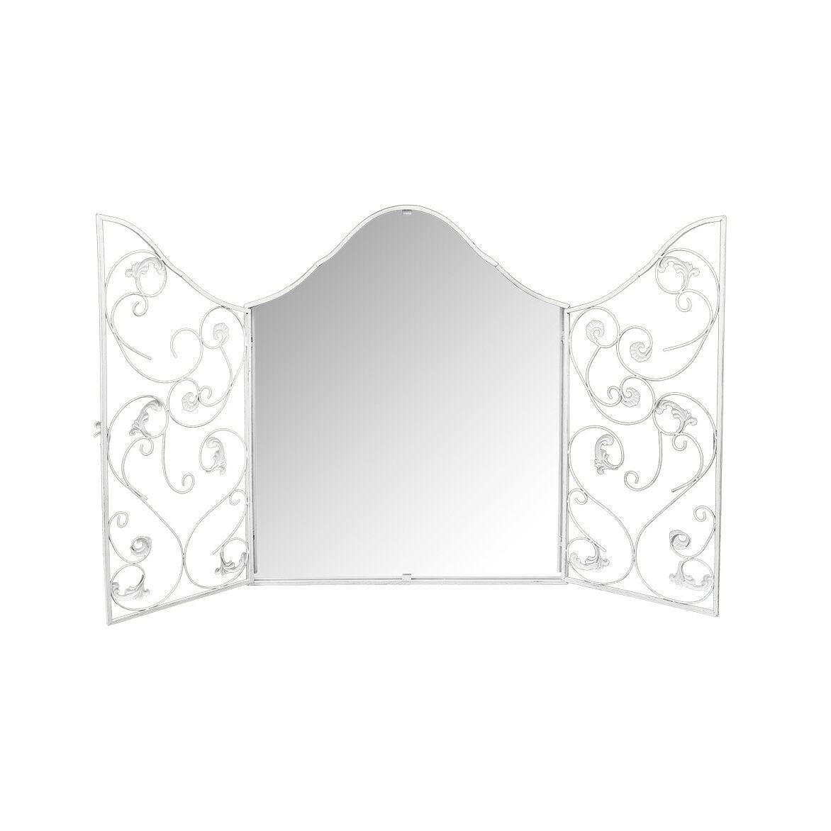 Настенное зеркало «Монтанер» (белый антик) 2 | Настенные зеркала Kingsby