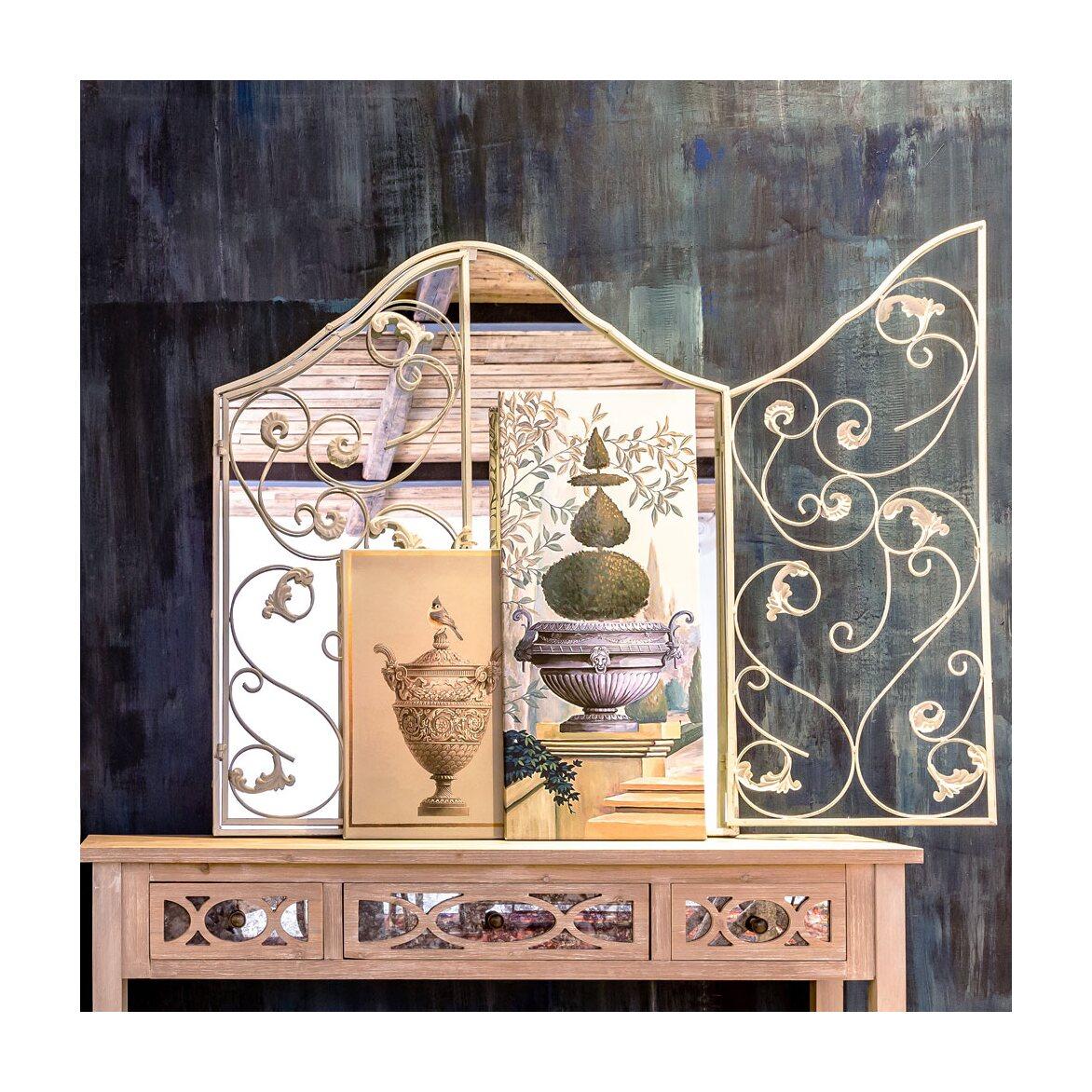 Настенное зеркало «Монтанер» (белый антик) 3 | Настенные зеркала Kingsby