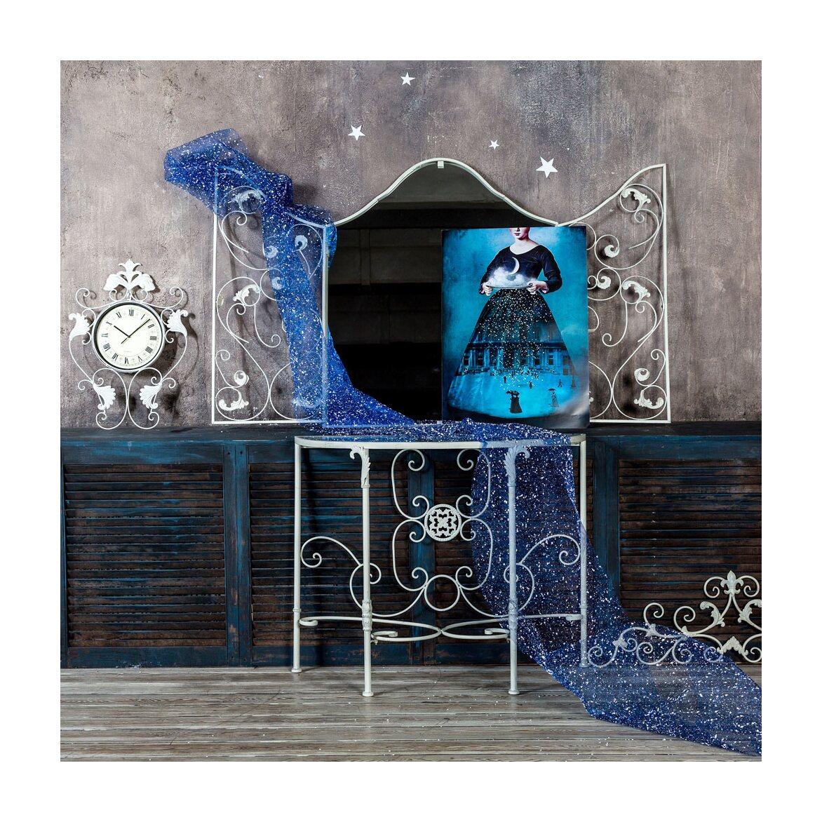 Настенное зеркало «Монтанер» (белый антик) 9 | Настенные зеркала Kingsby
