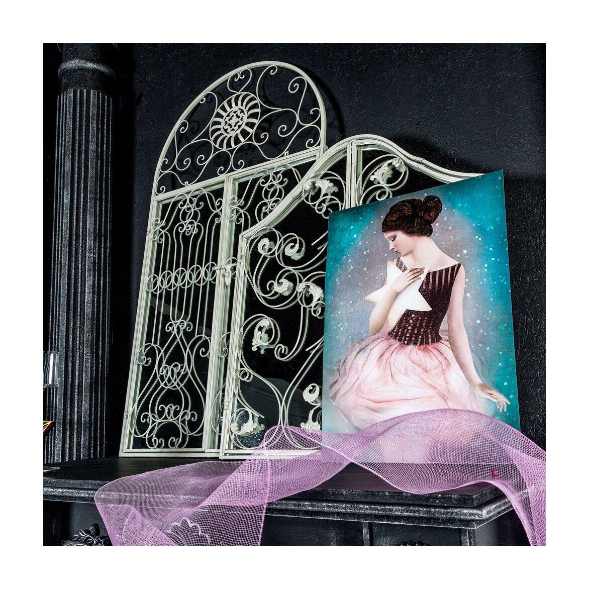 Настенное зеркало «Монтанер» (белый антик) 7 | Настенные зеркала Kingsby